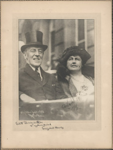 Edith and Woodrow Wilson Photograph
